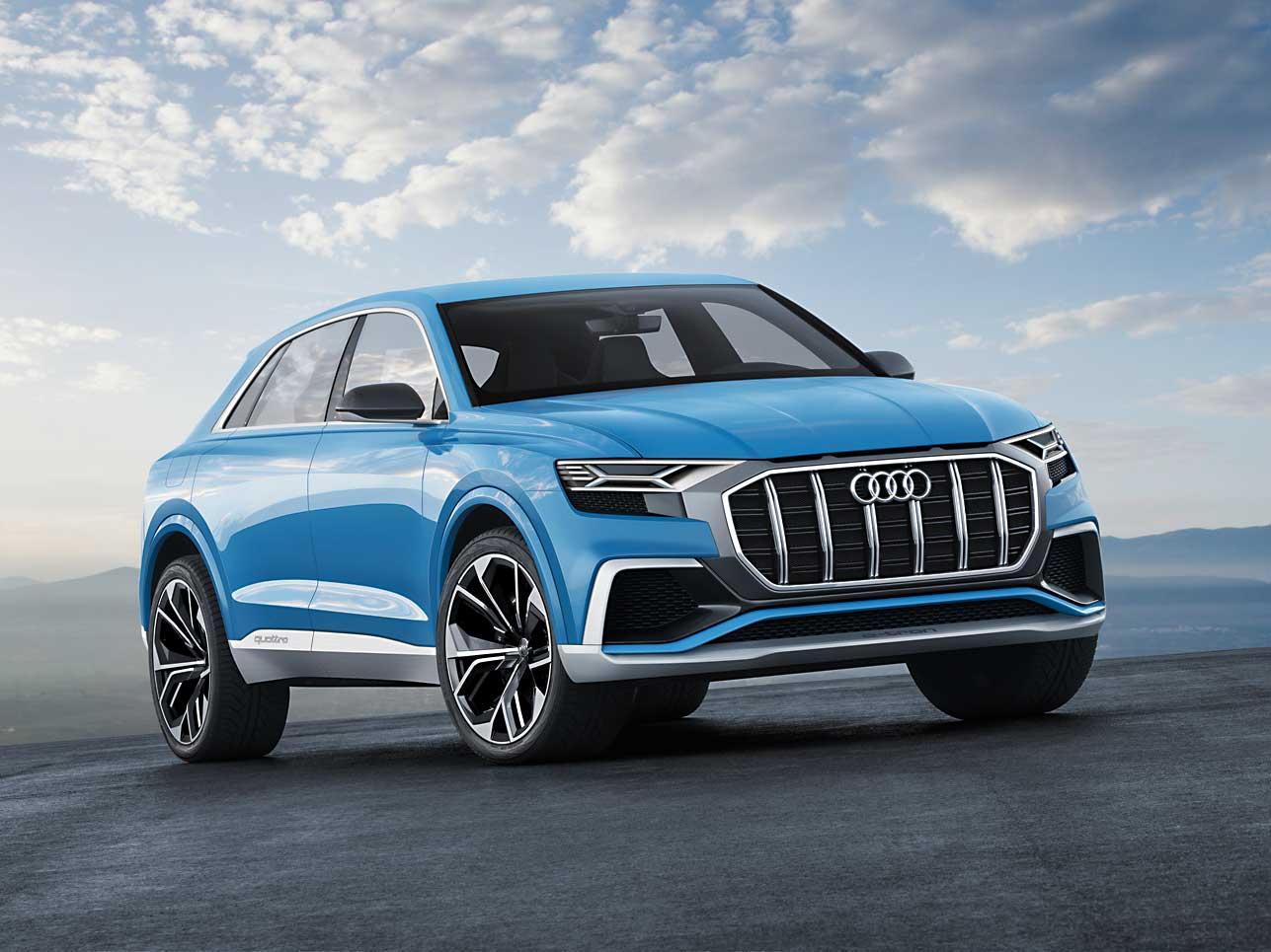 Schrägansicht: Der neue Audi Q8