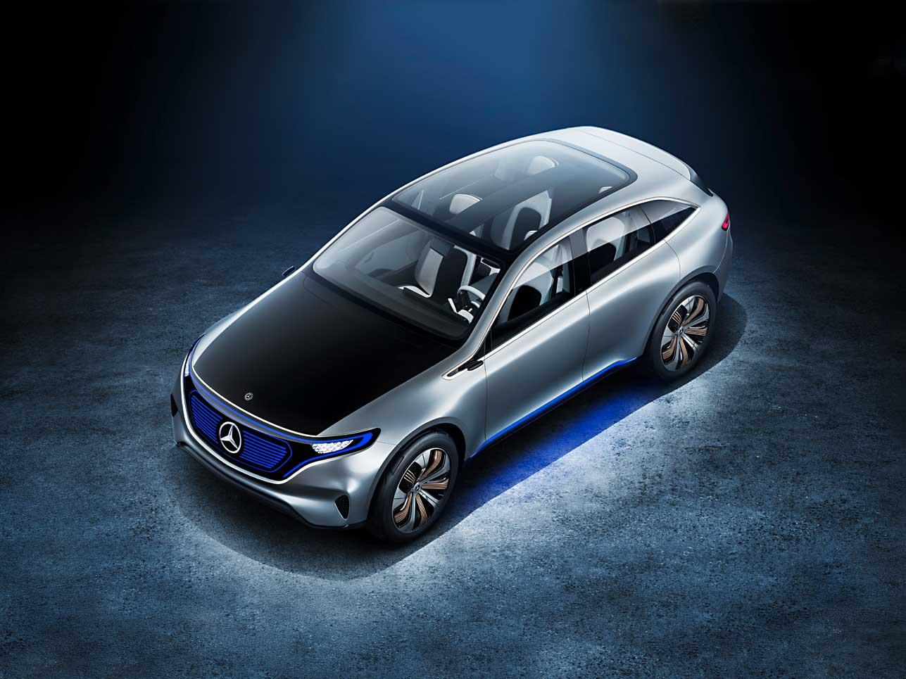 Schrägansicht: Der Mercedes Generation EQ