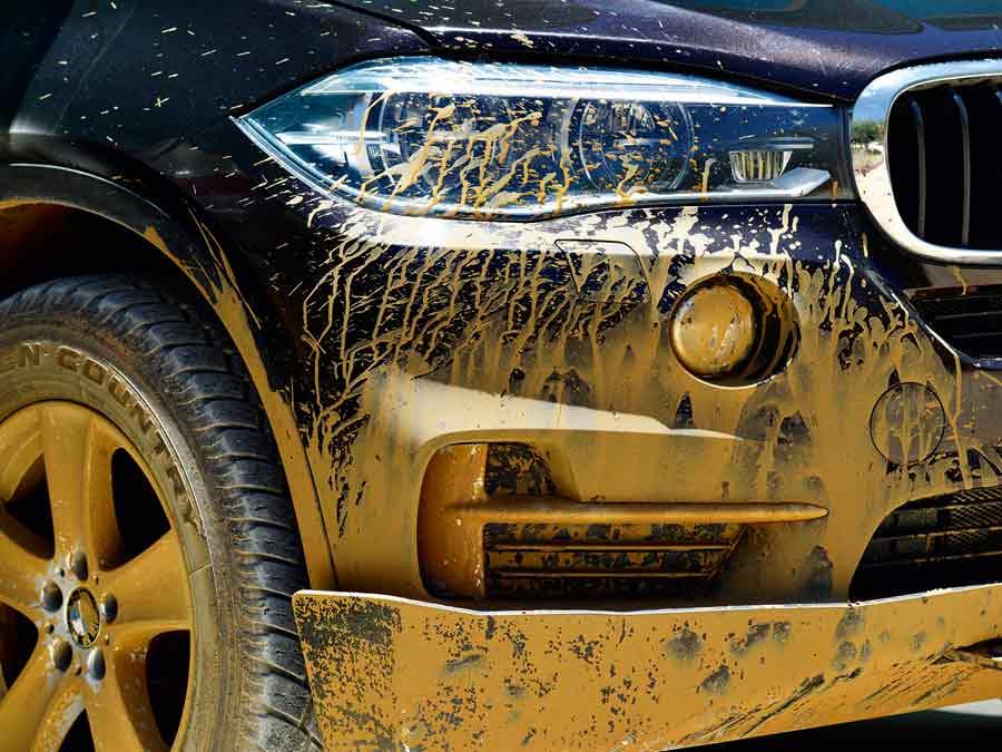 Keine Scheu vor Schlamm – der BMW X5.