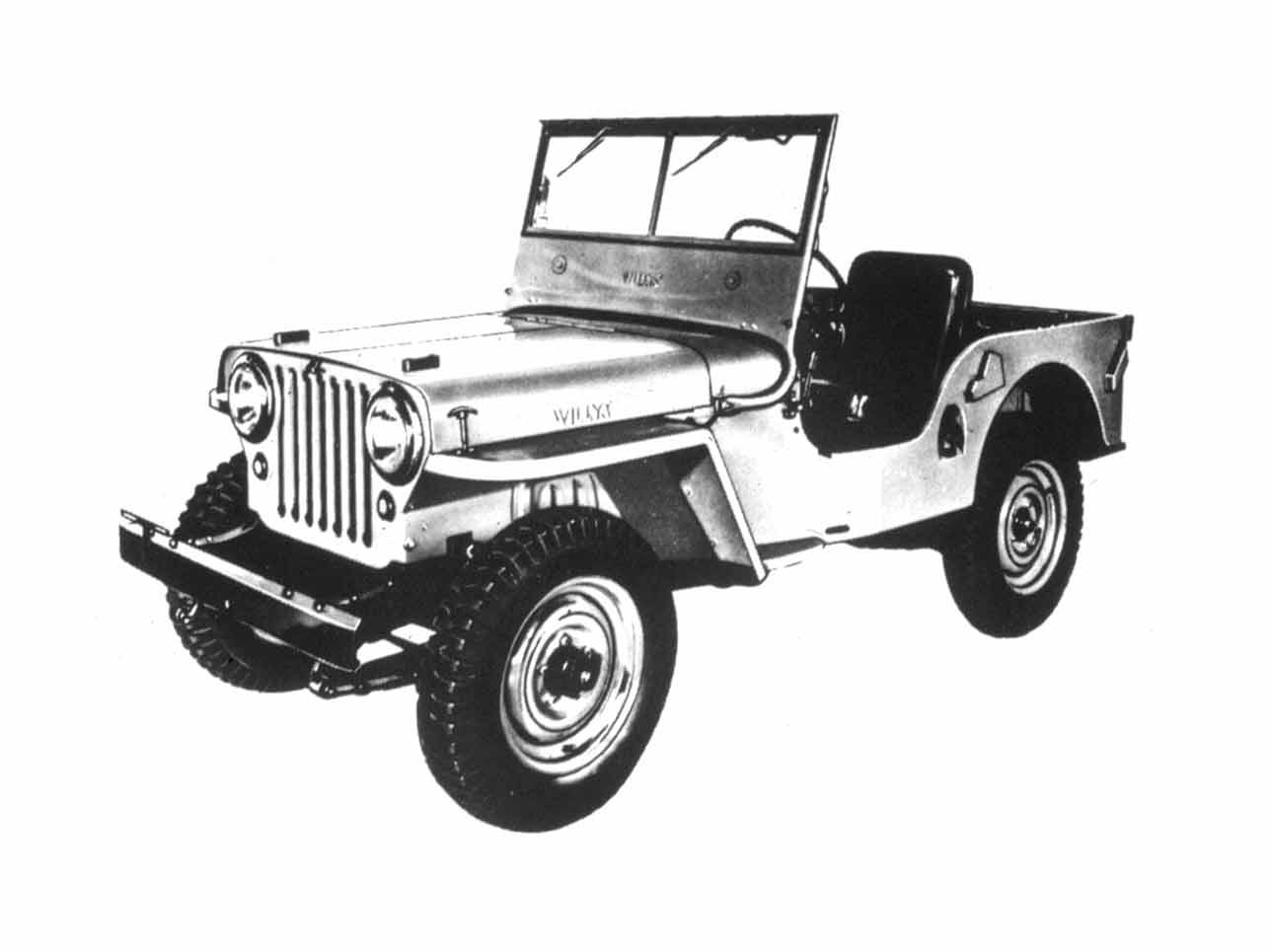[h3]1945 – 1949, Willys Jeep CJ-2A[/h3] Die Jeep-Zivilversion (Civilian Jeep) war bereits eine Urform des Freizeitautos