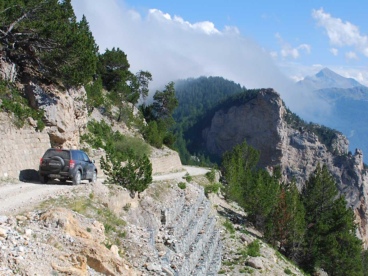 Der Monte Jafferau liegt am Naturpark Gran Bosco di Salbertrand.