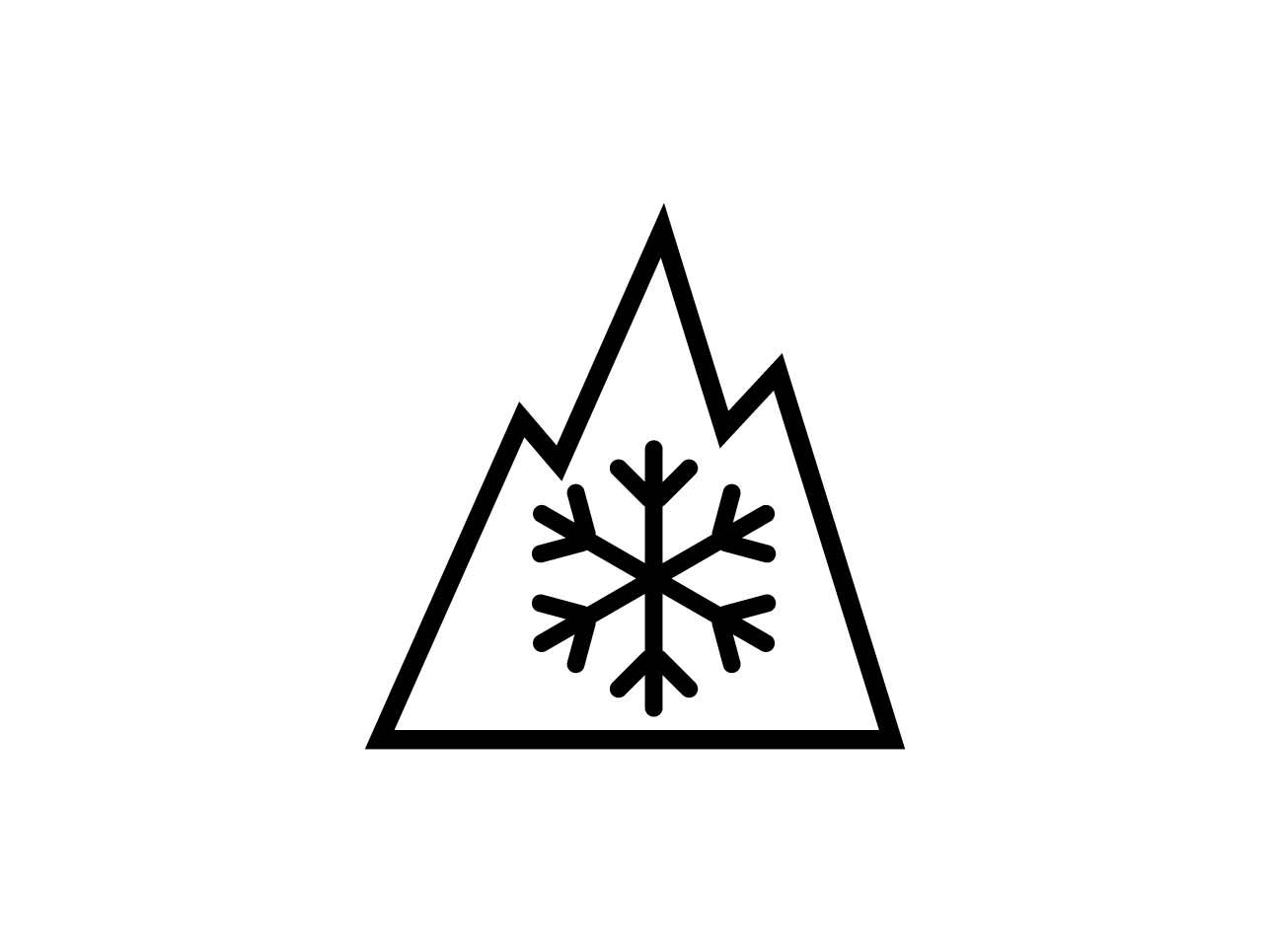 """Des Alpine-Symbol, Schneeflocke mit drei Bergspitzen, steht für """"echte"""" Winterreifen. Ab 2018 müssen alle Winterreifen dieses Symbol tragen."""